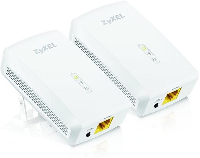 ZyXEL 1000 Mbps Powerline AV2 Gigabit Adapter, Starter Kit