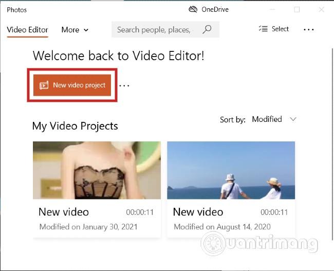 Mở Video Editor