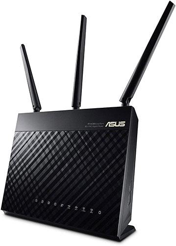 Router WiFi Gigabit băng tần kép Asus RT-AC68U