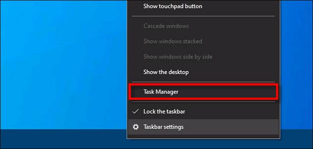 "Bấm chọn ""Task Manager"""