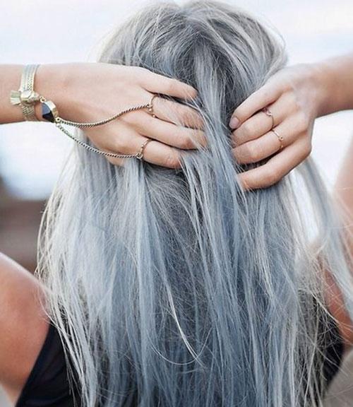 Màu tóc khói tôn da