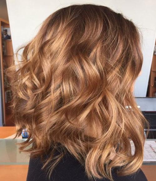 Màu tóc nâu vàng đẹp