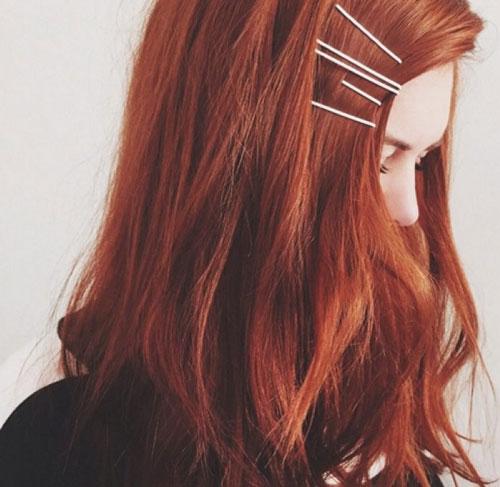 Tóc màu nâu quế