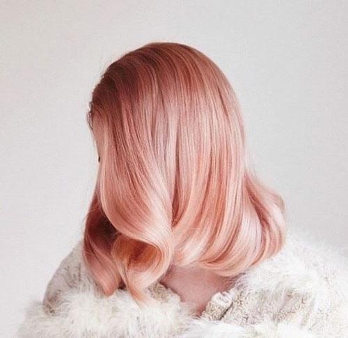 Màu tóc hồng vàng