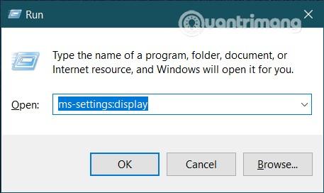 Thiết lập độ phân giải màn hình Windows 10