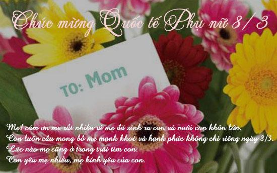 Thiệp 8/3 gửi tặng mẹ 5