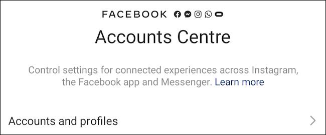 """Truy cập vào phần """"Accounts and Profiles"""""""