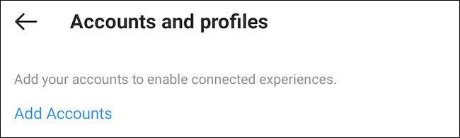 """Nhấn vào """"Add Accounts"""""""