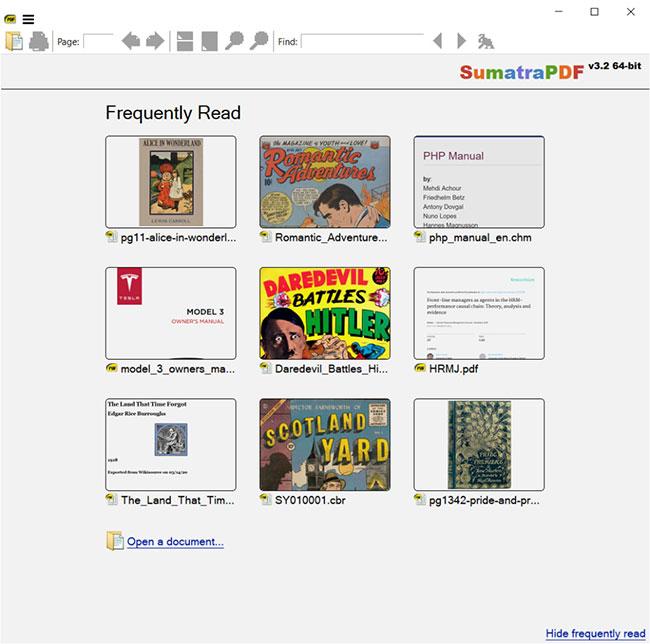 Sumatra PDF là một công cụ hữu ích giúp bạn xem tài liệu ở định dạng PDF, CHM, DjVu và XPS
