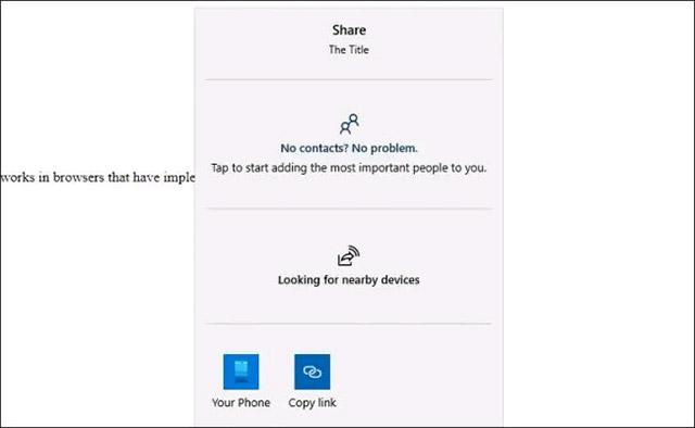 Chia sẻ web gốc trên Chrome desktop