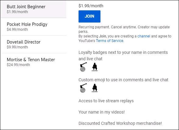 Phí hội viên YouTube Memberships