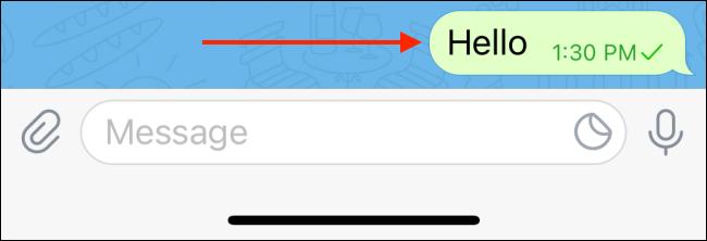 Nhấn và giữ một tin nhắn