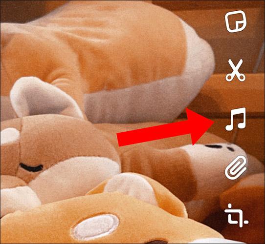 Nhấn vào nút hình nốt nhạc