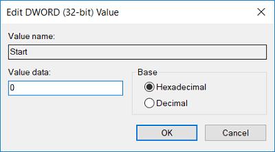 Thay đổi giá trị thành 0