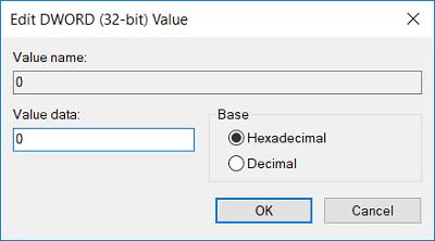 Thay đổi giá trị của nó thành 0