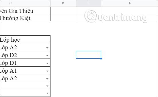 Cách ẩn đường lưới trong Google Sheets - Ảnh minh hoạ 3