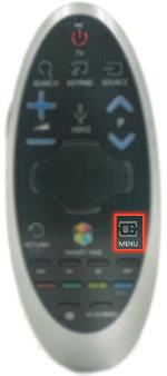 Nhấn nút Menu trên điều khiển tivi