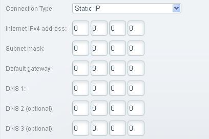 Nhập thông tin cần thiết do ISP cung cấp