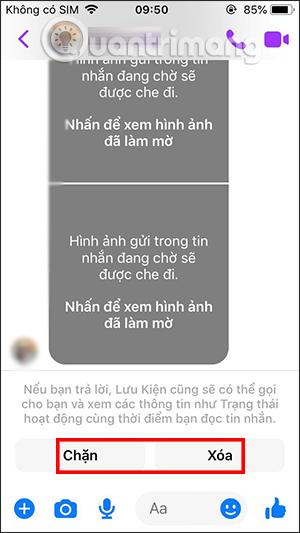 Tùy chọn chặn tin nhắn