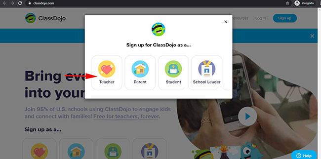 ClassDojo  là ứng dụng dành cho cả giáo viên, phụ huynh và học sinh