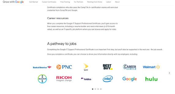 Google Certificate giúp bạn có những kỹ năng cần thiết cho công việc mong muốn trong thời gian ngắn