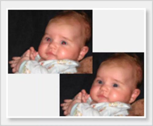 Photo! Editor có thể loại bỏ hiện tượng mắt đỏ