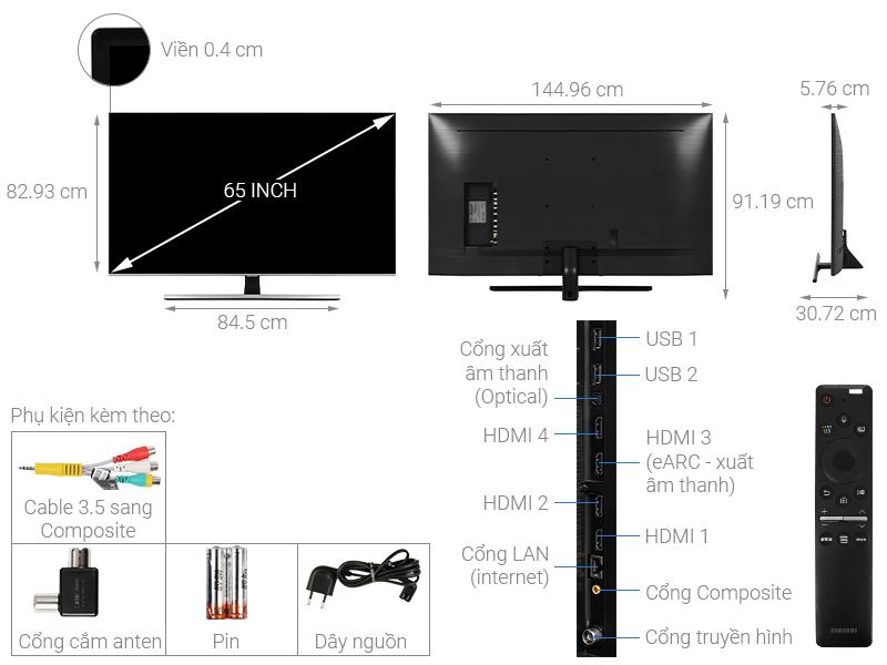 Smart Tivi QLED Samsung 4K 65 inch QA65Q70T