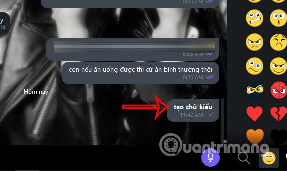 Tin nhắn đậm trên Viber