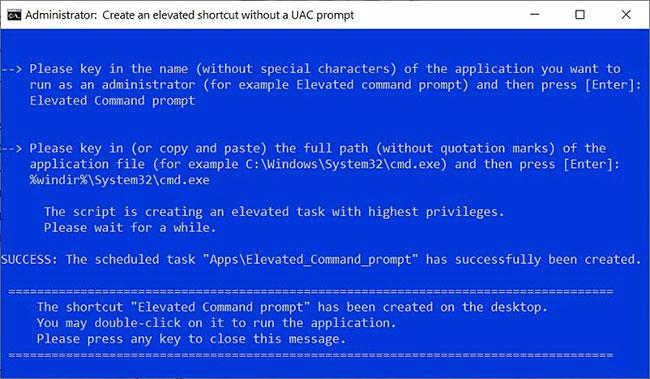 Tự động tạo shortcut mở ứng dụng với quyền admin bằng cách sử dụng script