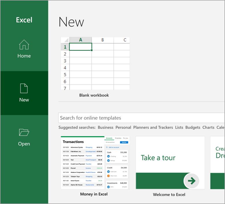 Truy cập vào Excel để tải Money
