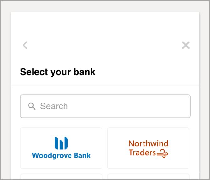 Cung cấp tài khoản tài chính của bạn.