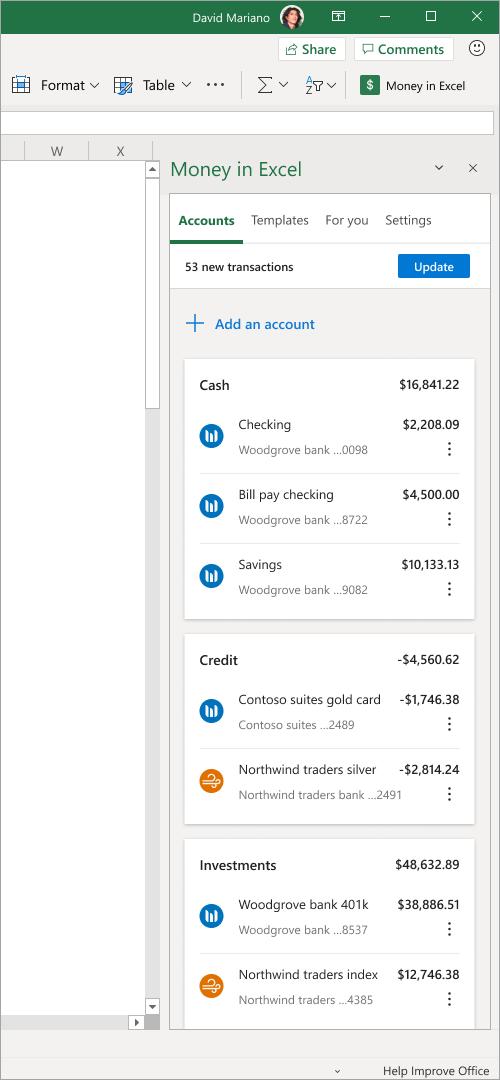 Chọn Add an account để thêm các tài khoản khác