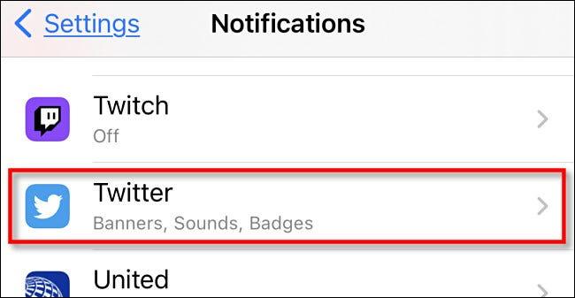 Cách tắt, tùy chỉnh thông báo từ Twitter trên iPhone và iPad - Ảnh minh hoạ 3