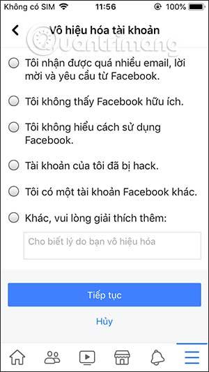 Cách khóa tài khoản Facebook tạm thời - Ảnh minh hoạ 7