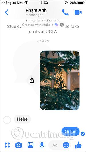Hiện tin nhắn giả