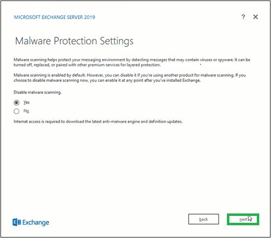 Bật/tắt tính năng quét phần mềm độc hại