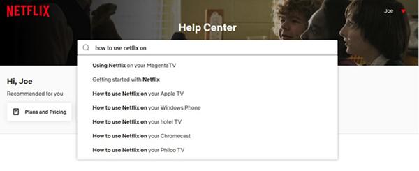 Tìm kiếm cách sử dụng Netflix