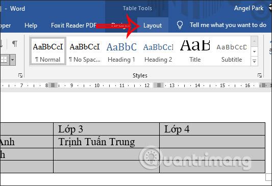 Các cách căn giữa ô trong bảng trên Word - Ảnh minh hoạ 3