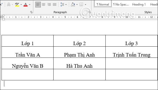 Các cách căn giữa ô trong bảng trên Word - Ảnh minh hoạ 8