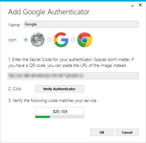 """Nhấp vào nút """"Verify Authenticator"""""""