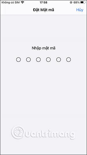 Nhập mật khẩu khóa iPhone