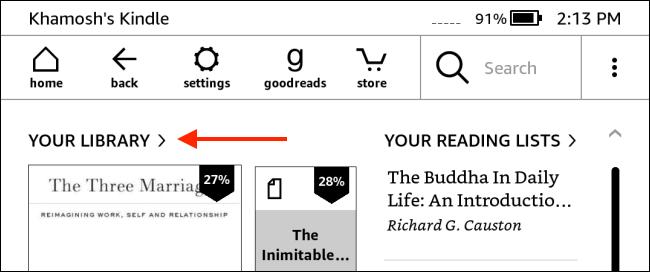 """Nhấn vào mục """"Your Library"""""""