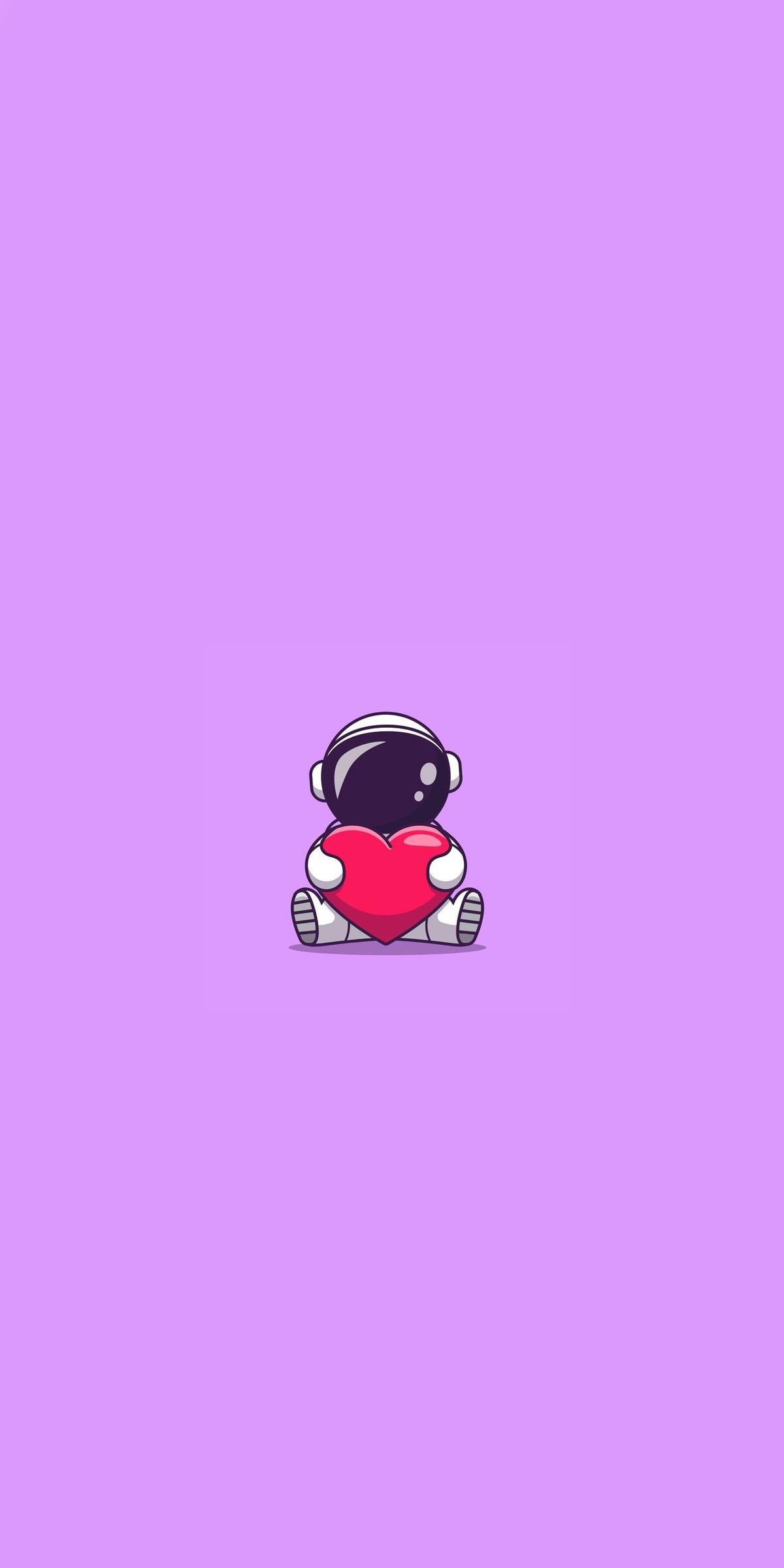 hình nền cute phi hành gia iphone