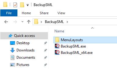 File sao lưu được lưu vào cùng một vị trí với ứng dụng