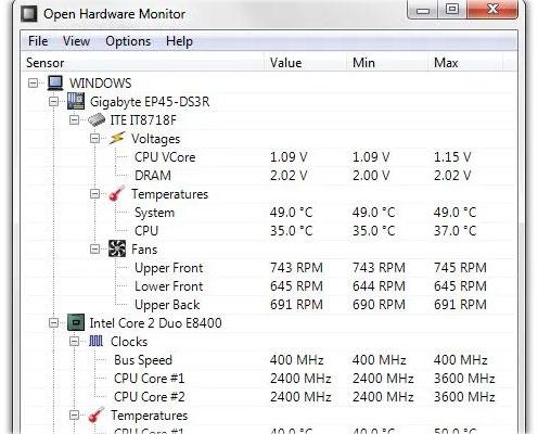 Đo lượng điện tiêu thụ bằng phần mềm Open Hardware Monitor