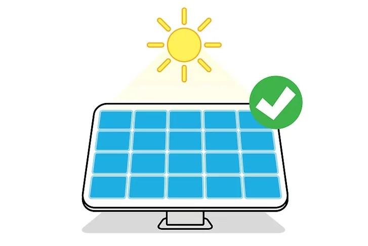 Sử dụng pin mặt trời, năng lượng mặt trời nếu có thể