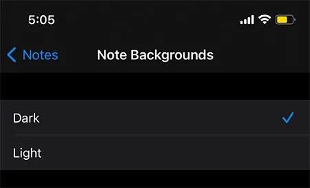 Cách thay đổi màu nền của ghi chú trên iOS