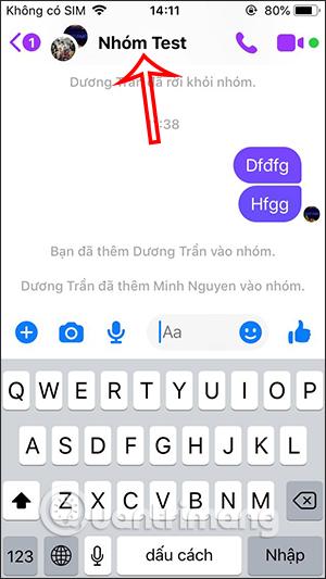 Tên nhóm chat Messenger
