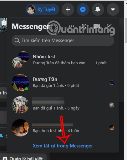 Xem tin nhắn Messenger