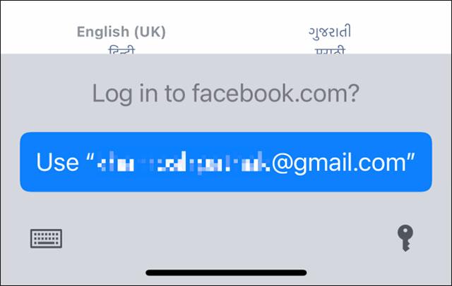 Lời nhắc đăng nhập của iCloud Keychain